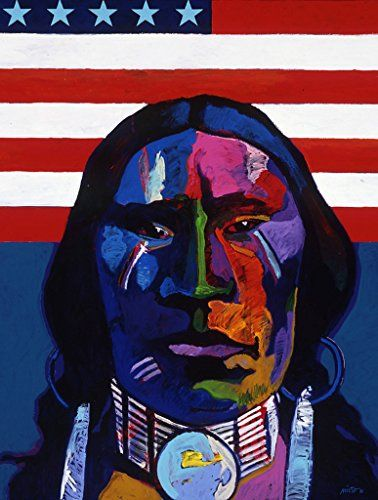 Plains Indian with Flag