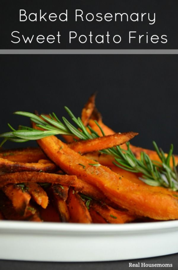 Baked Rosemary Sweet Potato Fries | Real Housemoms | This is perfect for this summer!