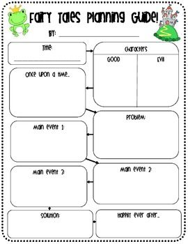 This is a cute planning guide to help your students write their own Fairy Tales!  They can fill them out independently or as a goup!