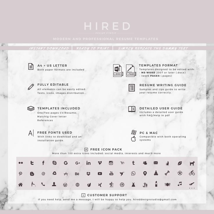 Best Resume Template For Word  Pages Images On