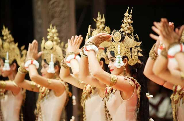 Traditional Cambodian dancers.