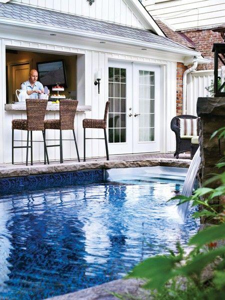 Superbe pavillon de piscine source maison demeure juin for Big blue piscine