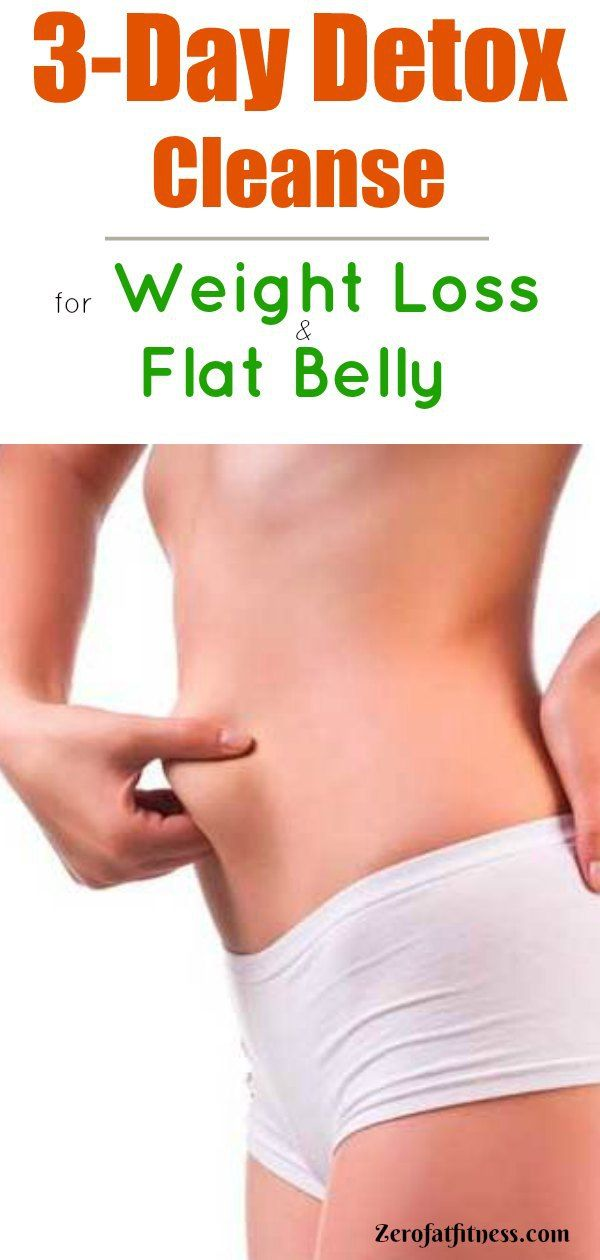 3-Day Detox Cleanse for Weight Loss and Flat Belly  #detox #cleanse #weightloss ...