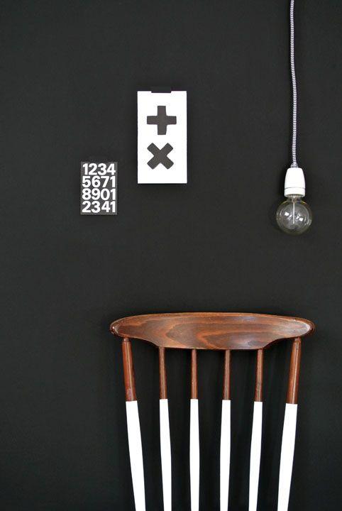 Via Enter My Attic | Black and White | Cross | Dip Dye Chair