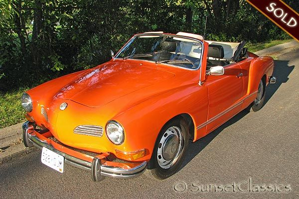 My dream car and first love <3 , an orange convertable volkswagon karmann ghia sigh..........