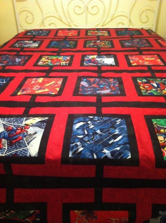 23 Best Images About Marvel Comic Quilts On Pinterest