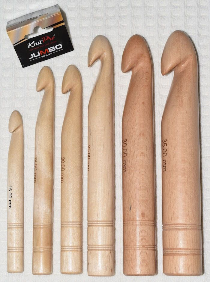 $15.5 AUD - Knitpro Jumbo Birch Wood Big Crochet Hook (15Mm - 35Mm) Knit Pro #ebay #Home ...