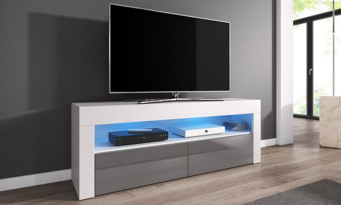 Groupon Goods Global Gmbh Meuble Tv Luna 140 Cm Avec Ou Sans Led Muebles Para Tv Muebles Tv