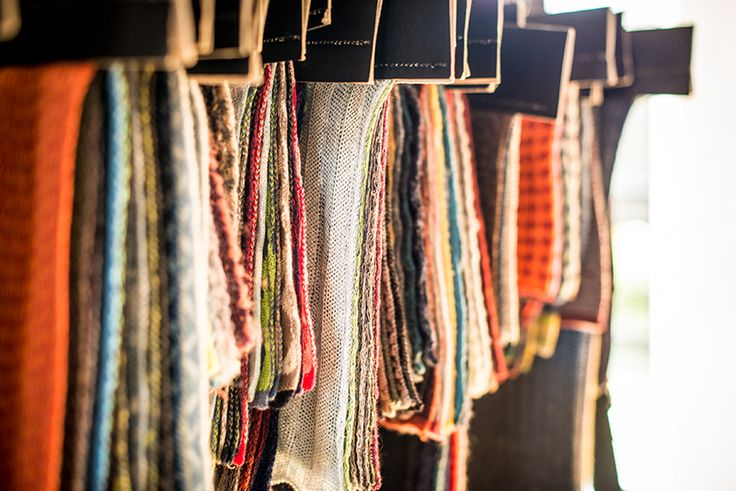 Textile Samples | McKernan Woollen Mills | Handmade scarves | Made in Ireland | Irish Design | Weaving and Knitting