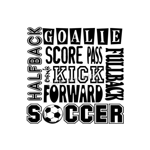 Soccer Sports Subway Vinyl Wall Kids Bedroom Nursery Decal Sticker. $9.99, via Etsy.