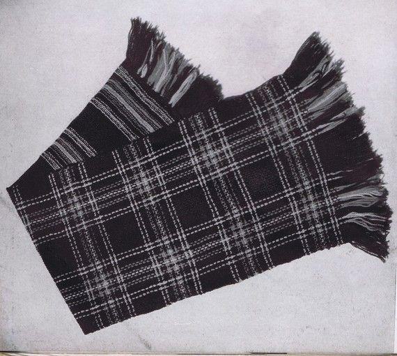 PDF of Minervas Princess Mary Plaid Vintage Scarf Knitting Pattern, c. 1942 ...