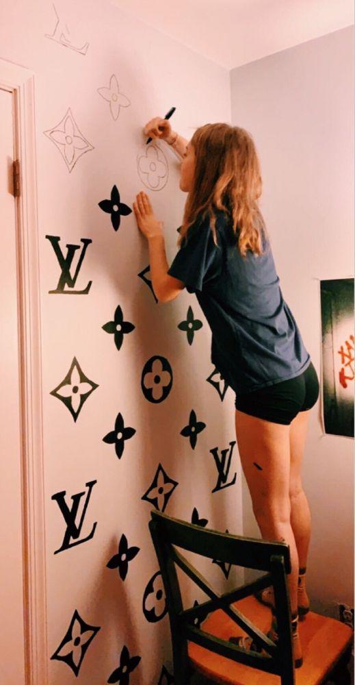 Louis Vuitton Wall Art Dorm Room Inspiration Aesthetic