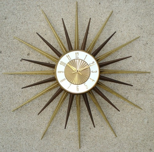 sunburst clock my mom hung one in our living room when i was little