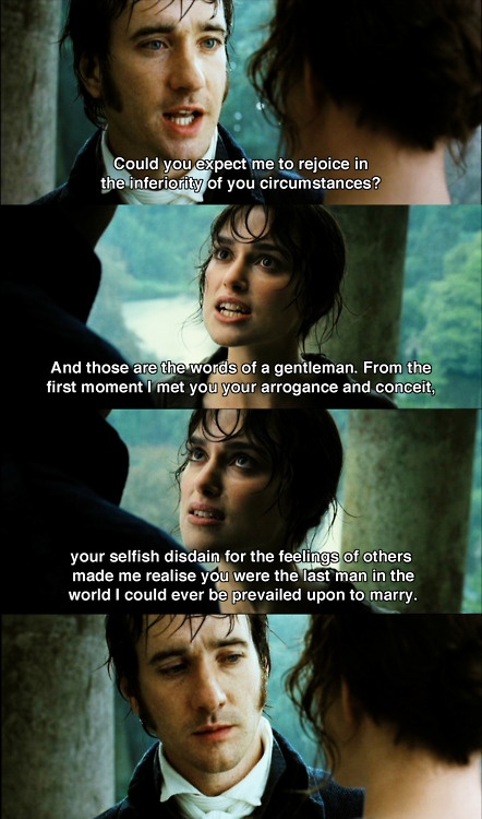 Pride and Prejudice (2005) Keira Knightley and Matthew MacFadyen star as Elizabeth Bennet and Fitzwilliam Darcy in this adaptation of Jane Austen's novel.