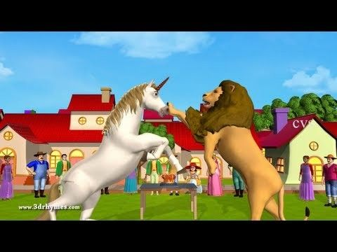 The Lion and the Unicorn | 3D Animation | English Rhymes | Rhymes for kids. This videos is most funable and lessonable for kids.