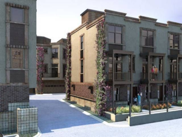 Green Homes for Sale - Denver, Colorado. New solar townhomes in downtown Denver with rooftop terraces, fenced yard and a tree lined street. Walk to 16th Street Mall and light rail. Dare to be green - be part of the solution, not part of the problem. A green home saves you money on utility bills and home maintenance.