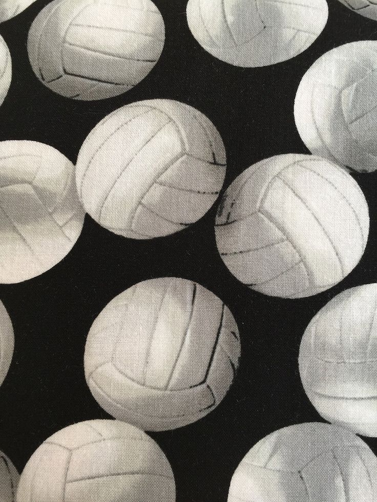 Volleyball Fabric by Robert Kaufman Fabrics by BungalowQuilting on Etsy