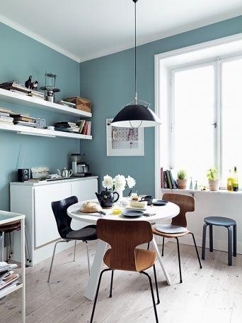 love the wall colour here. : : Saša Antić - Interior stylist,