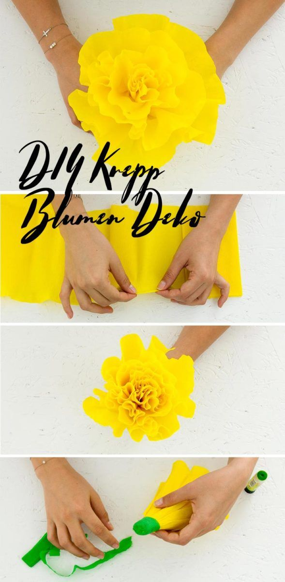 Diy Kreppblumen Backdrop Basteln Das Diy Lifestyle Magazin Fabric Flowers Diy Fabric Flowers Hand Embroidery Flowers