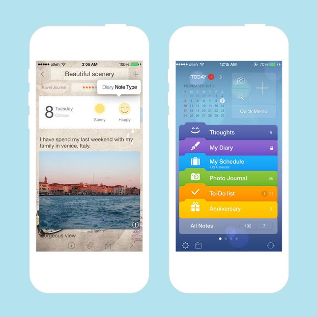 Keep track of it all with the Awesome Note app.