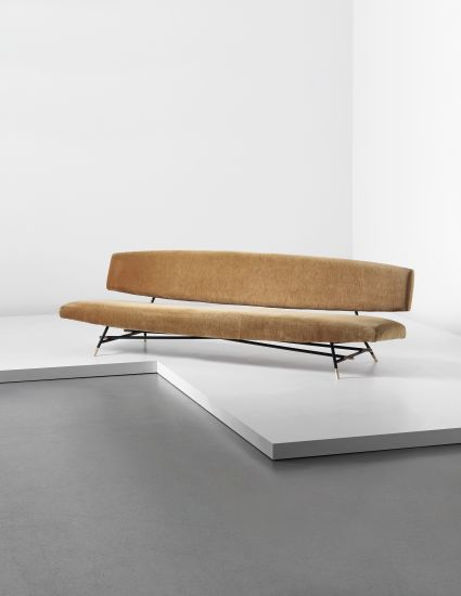 Ico Parisi sofa, c. 1955 model no. 865. painted tubular metal, manufactured by Cassina, Italy