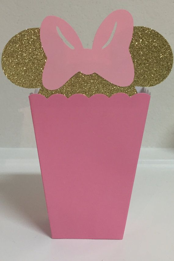 Minnie Mouse Pink and Gold Theme Favor Popcorn by MAKSCraftshop