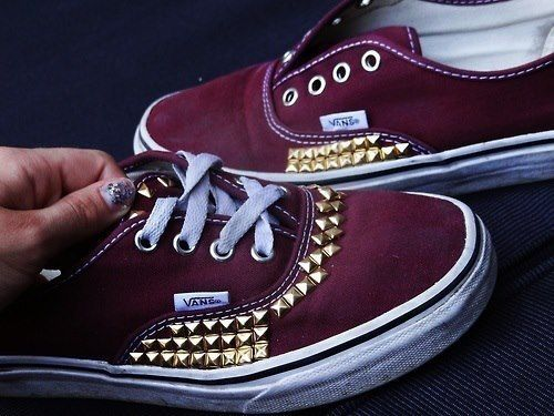 Maroon Vans: go central maroons! so getting these for high school