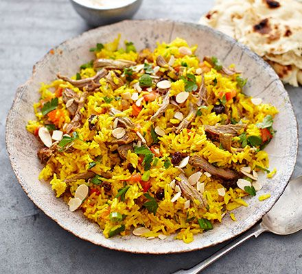 Make the most of Sunday's leftover roast lamb in this colourful spiced rice one-pot from BBC Good Food Magazine reader Karolina McCallan