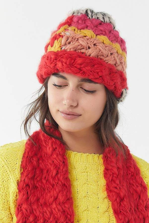 352130713bdcb Urban Outfitters Craft Multi-Knit Beanie