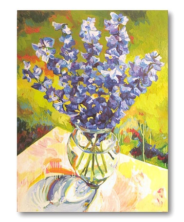 Take a look at this Purple Fresh Vase Canvas Wall Art by COURTSIDE MARKET on #zulily today!