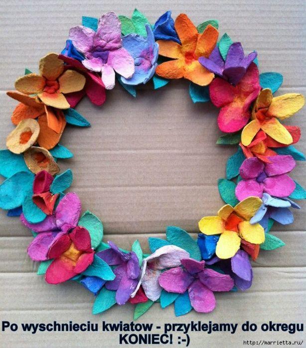Avec des boites d 39 oeufs boite d 39 oeufs pinterest faire des fleur - Comment faire des fleurs avec des boites a oeufs ...
