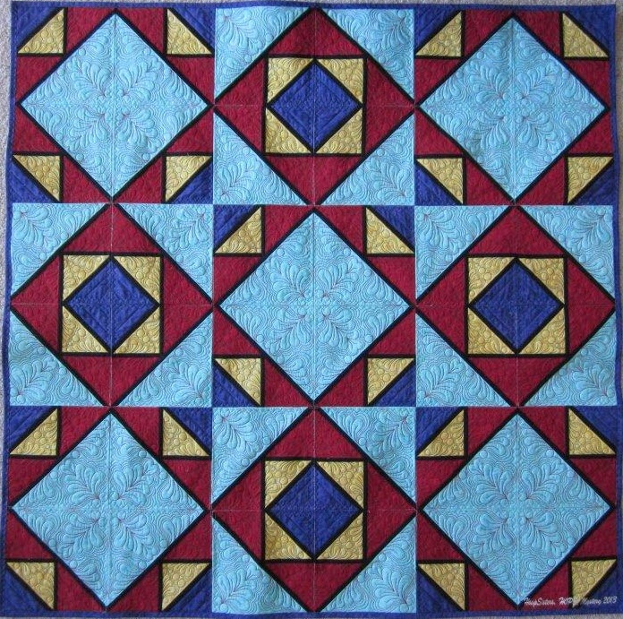 44 best Two block quilts images on Pinterest | Block quilt ... : block patterns for quilts - Adamdwight.com