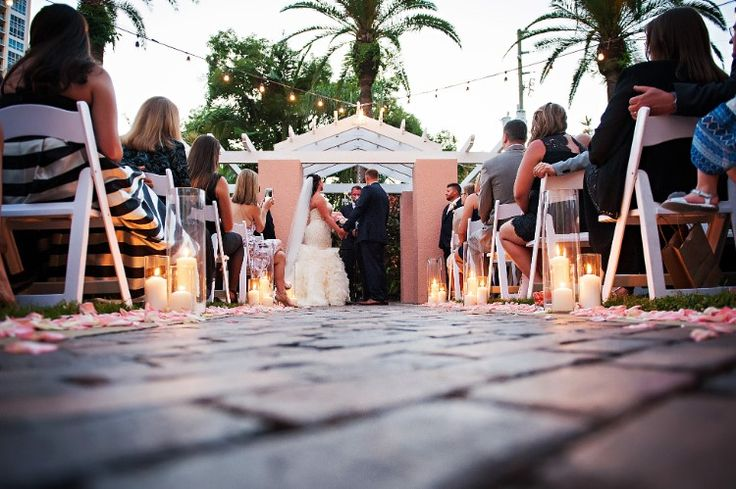 Classic St. Petersburg Wedding at The Vinoy Renaissance Resort and Golf Club, FL  Beautiful, intimate outdoor ceremony!  Photographer:  Limelight Photography