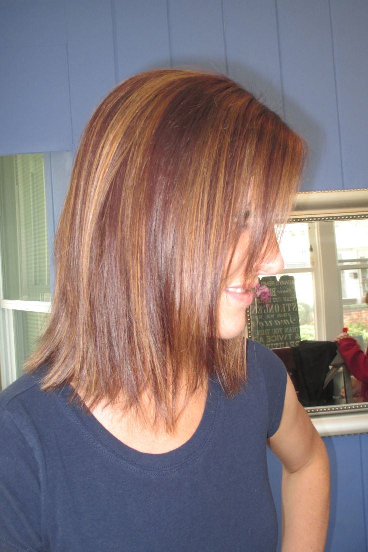 It S Me Reddish Brown With Caramel Highlights Brown