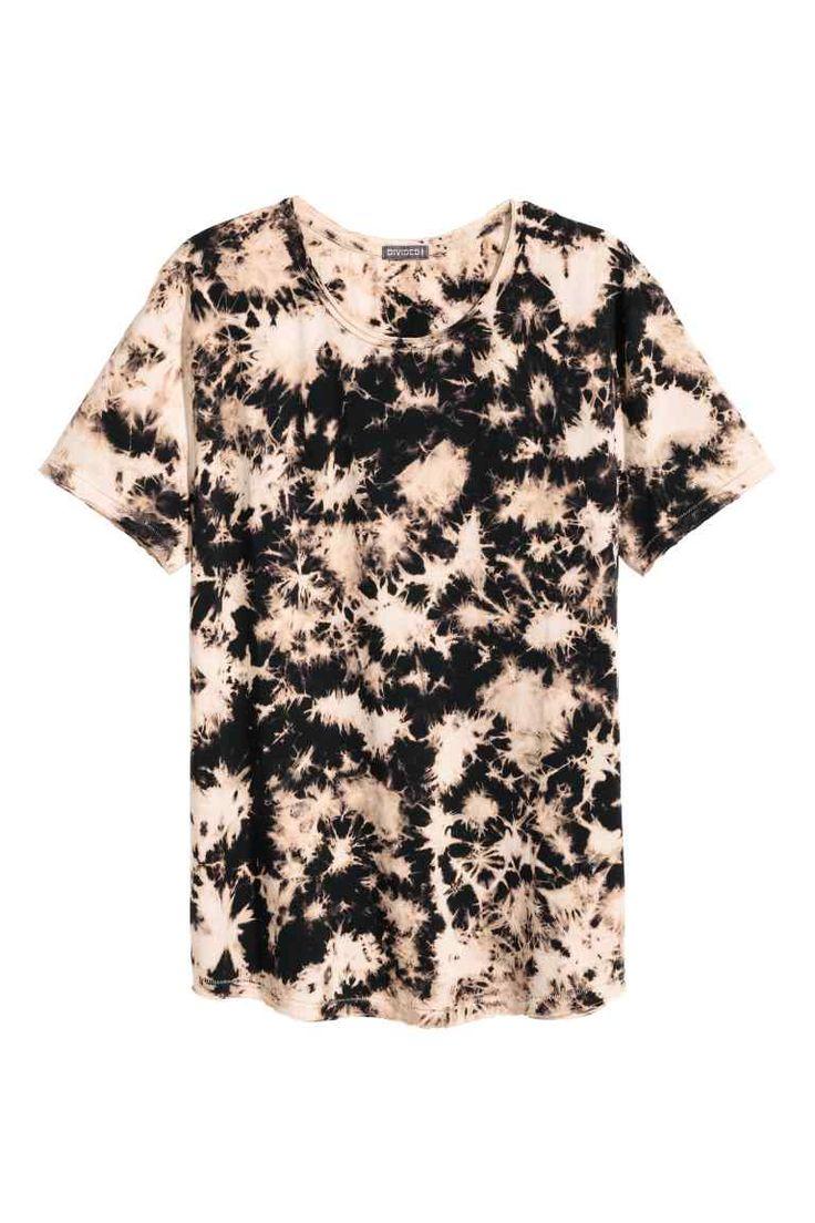 T-shirt met versleten look - Zwart - HEREN | H&M NL