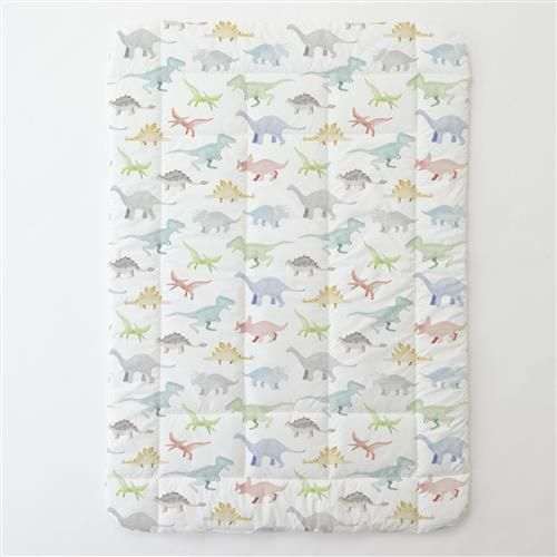 Watercolor Dinosaurs Toddler Bed Comforter