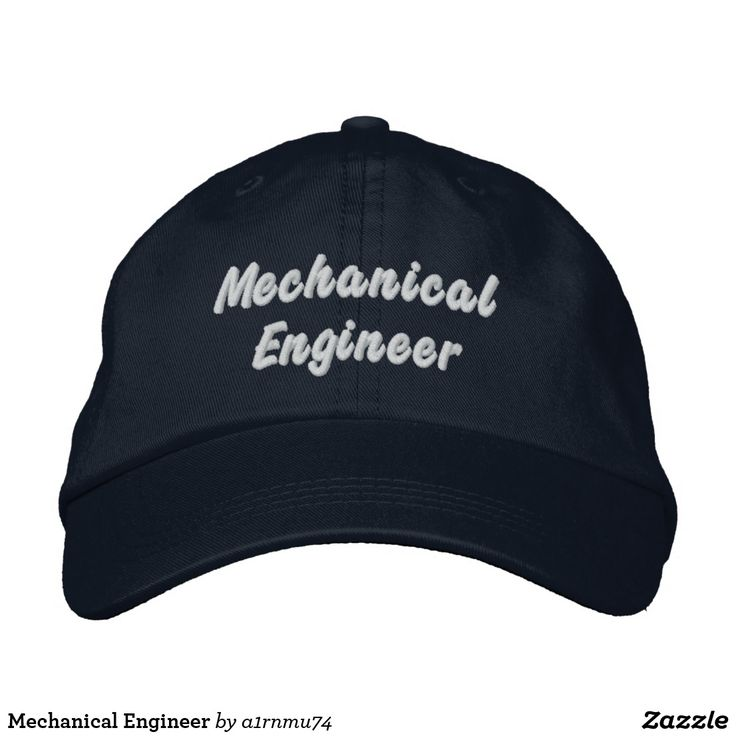 Mechanical Engineer Embroidered Hats