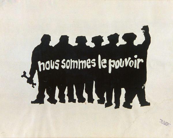 Ateliers populaire Paris: Nous sommes le pouvoir, 1968. Poster.