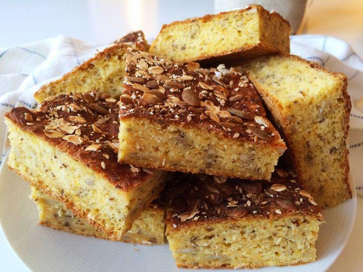 Glutenfria godsaker: Glutenfritt morotsbröd i långpanna