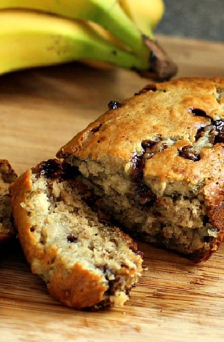 Low FODMAP Recipe and Gluten Free Recipe - Banana and chocolate chip loaf