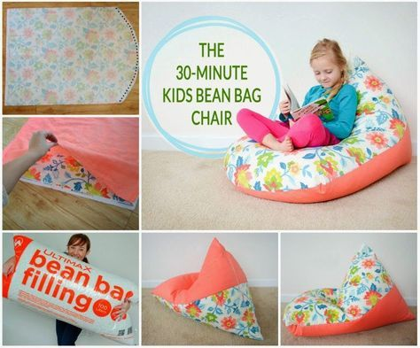 How To Make A 30 Minute Bean Bag Diy Ideas Crafts Do It Yourself