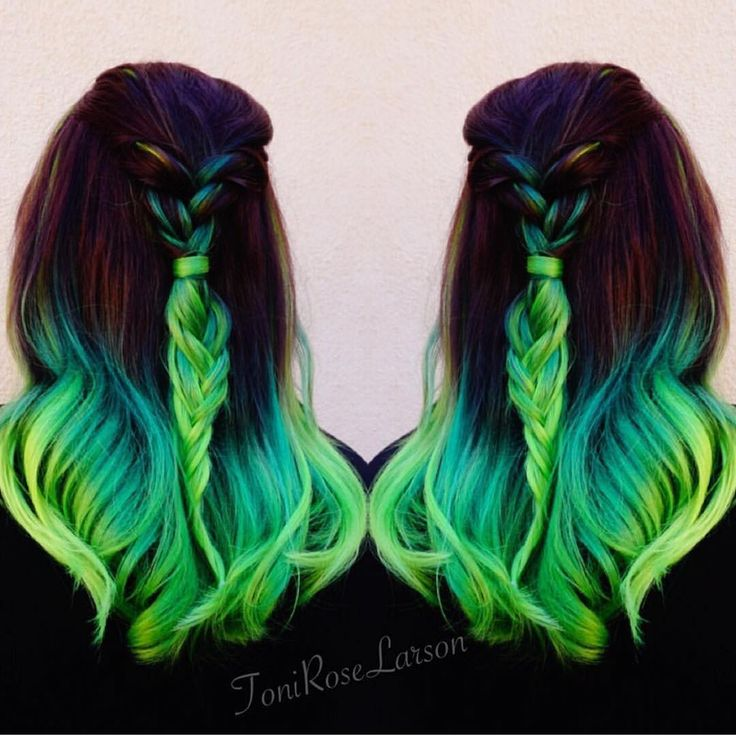 """Lizzy Neon green color melt by Toni Rose Larson @colordollzbytoni #pravana…"