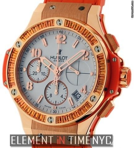 Hublot Big Bang Gold Tutti Frutti 41mm Orange 18k Rose Gold Reference #: 341.PO.2010.LR.1906