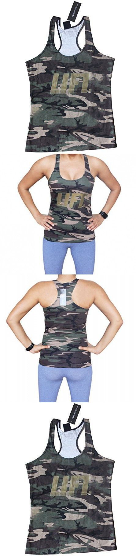 Women's Camo Lift tank top for Crossfit Fitness Bodybuilding Running Workout Zumba ladies X-Small