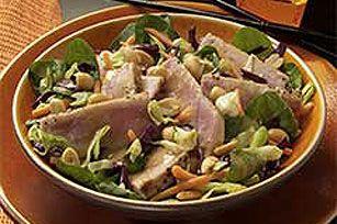 Asian Sesame Salad with Seared Tuna recipe Hold the peanuts please!