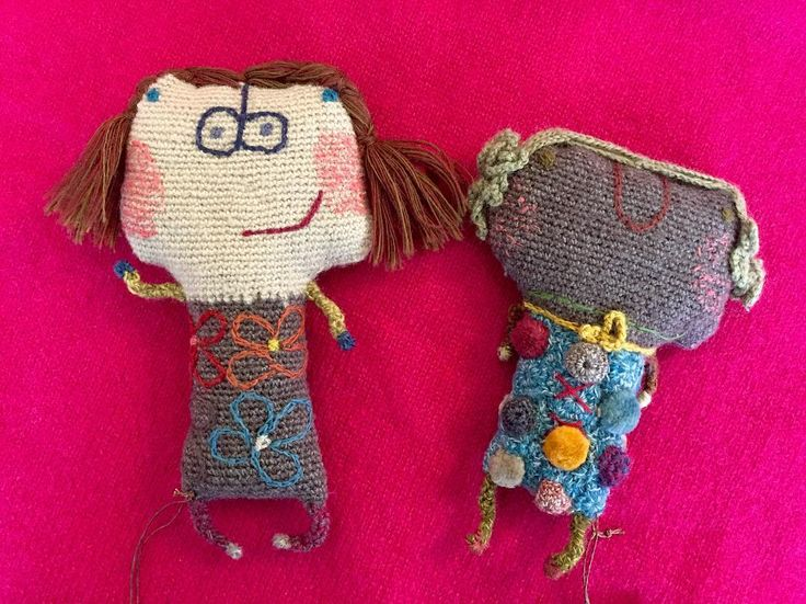 flying_fishes_lorne • Alice and Charlotte! Little people brooches from Sophie Digard