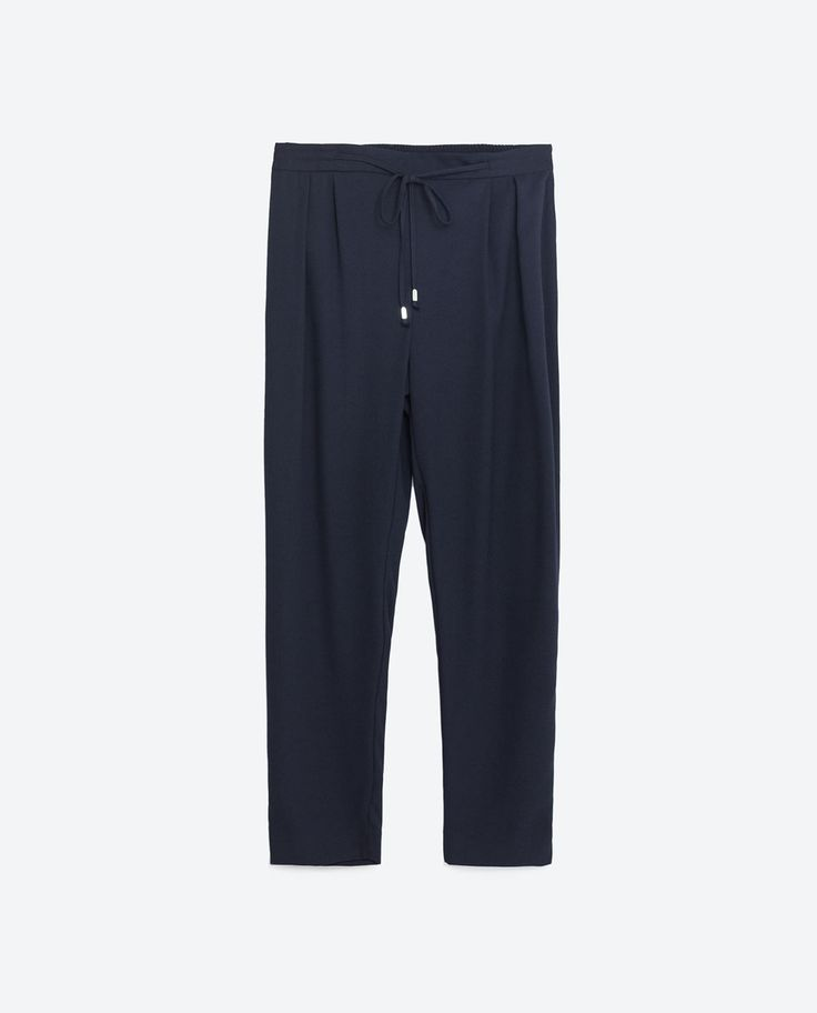 Image 8 of DRAWSTRING TROUSERS from Zara