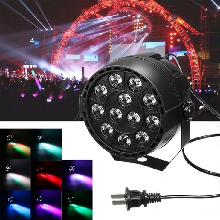 Weekly deals: 12W 12 LED RGB Stage Projector Light Bar Club DJ Disco Par Lamp US Plug Black