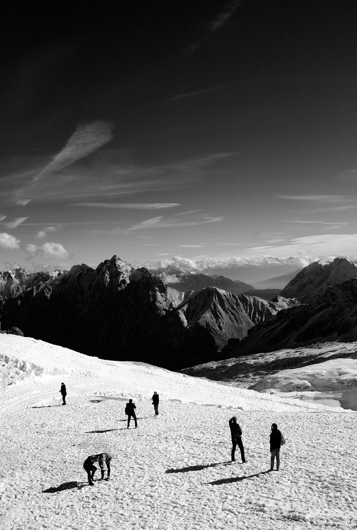 Zugspitze - View from the Zugspitzplatt, beneath the peak of the Zugspitze.