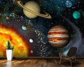 3D Solar System mural wallpaper kitchen preview